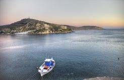 希腊渔船 免版税库存图片