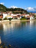 希腊港口nafpakto视图 图库摄影