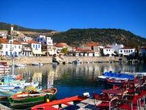 希腊港口nafpakto 库存图片