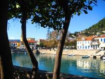 希腊港口nafpakto 图库摄影