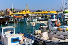 希腊游艇 免版税库存照片