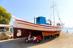 希腊游艇 免版税图库摄影