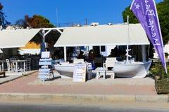 希腊游艇 免版税库存图片