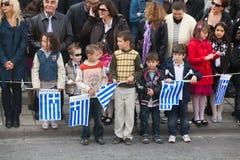 希腊游行 库存图片