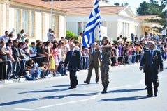 希腊游行 免版税库存图片