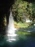 希腊瀑布 库存照片