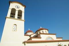 希腊现代教会 免版税库存照片