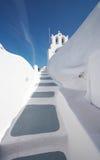 希腊理想的santorini白色 库存照片
