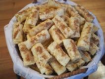 希腊甜点'diples' 免版税图库摄影