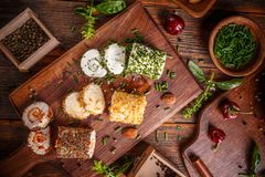 希腊白软干酪开胃菜 库存图片