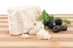 希腊白软干酪 免版税库存图片