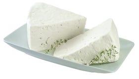 希腊白软干酪 库存图片