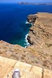 希腊的岩石海岸 免版税库存照片