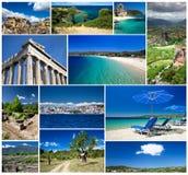 希腊的拼贴画 库存图片