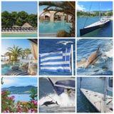 希腊的拼贴画 免版税库存图片