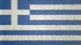 希腊的旗子的原始的3D图象 皇族释放例证