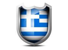 希腊的旗子 免版税库存图片