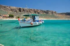 从希腊的格拉姆武萨群岛海岛 库存照片