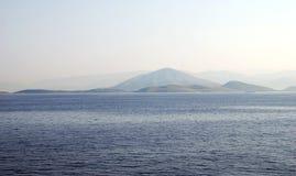 从希腊的海滨风景 免版税库存照片