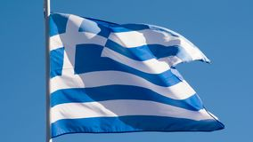 希腊的状态旗子 股票录像