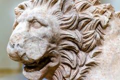 从希腊的狮子雕象 免版税库存图片