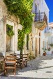 希腊的美丽的老街道 纳克索斯岛 库存图片