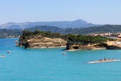 希腊科孚岛海岛 免版税库存图片