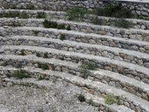希腊罗马剧院的阶段在土耳其 免版税图库摄影