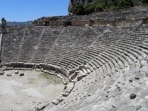 希腊罗马剧院的阶段在土耳其 免版税库存图片