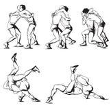 希腊罗马搏斗 库存图片