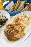 希腊羊羔意大利面食餐馆沙拉taverna 库存图片