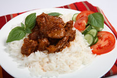希腊羊羔炖煮的食物样式 库存照片