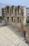 希腊老剧院 库存图片