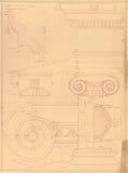 希腊老历史记录纪念碑 库存照片