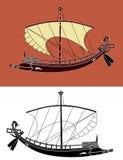 希腊船 库存图片