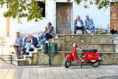 希腊街道生活 免版税库存图片