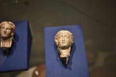 希腊被影响的头在东方艺术博物馆在罗马意大利 免版税图库摄影