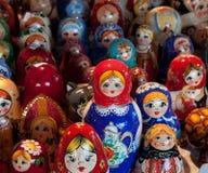 希腊被筑巢的Matryoshka玩偶 免版税库存图片