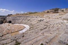 希腊西西里岛siracusa剧院 免版税库存照片