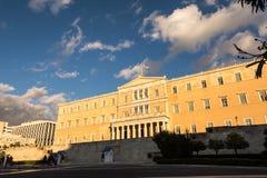 希腊议会在一个晴天 库存图片