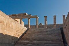 希腊语上城的列 免版税图库摄影