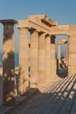 希腊语上城的列 免版税库存照片