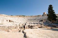 希腊语剧院 免版税库存照片
