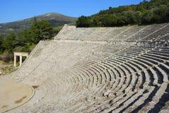希腊语剧院 免版税图库摄影