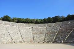 希腊语剧院 免版税库存图片