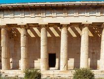 希腊语古老的列 免版税库存照片