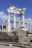 希腊语市在Bergama的佩尔加蒙,土耳其 免版税库存图片