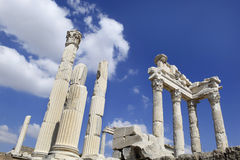 希腊语市在Bergama的佩尔加蒙,土耳其 免版税库存照片