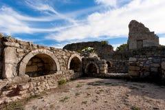 希腊语废墟 免版税库存图片