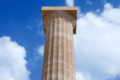 希腊语柱子 免版税库存照片